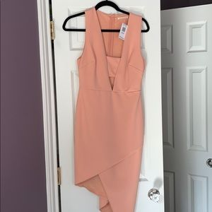 *NWT* Salmon Colored Asymmetrical Dress